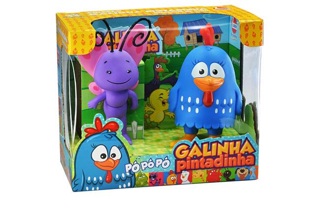 Para bebês (acima de 4 meses): Kit Boneco Galinha Pintadinha