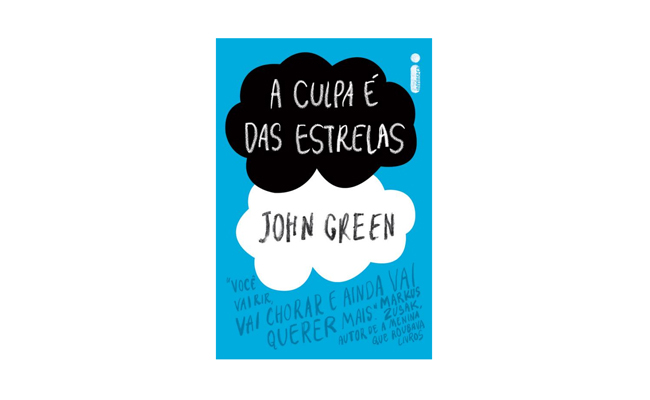 "Livro ""A culpa é das estrelas"" de John Green"